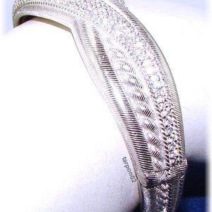 Judith Ripka Highway Textured Diamonique Bracelet